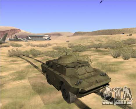 BRDM-2ЛД pour GTA San Andreas vue de droite