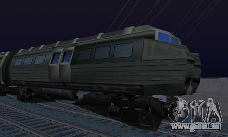 Batman Begins Monorail Train Vagon v1 für GTA San Andreas Rückansicht