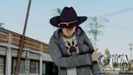 Carl Grimes from The Walking Dead für GTA San Andreas