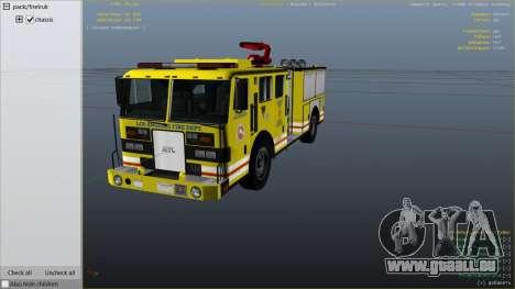 GTA 5 Los Angeles Fire Truck rechte Seitenansicht