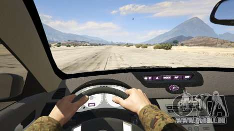 GTA 5 Infiniti G35 arrière droit vue de côté