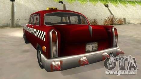 GTA3 Borgnine Cab für GTA San Andreas Rückansicht