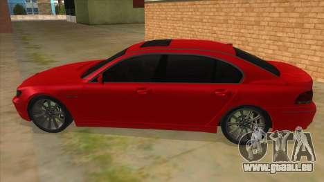 BMW 760 LI pour GTA San Andreas laissé vue