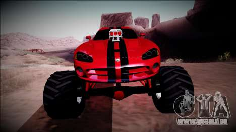 Dodge Viper SRT10 Monster Truck pour GTA San Andreas vue de côté