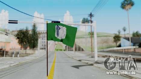 Attack On Titan Survey Crops Flag pour GTA San Andreas deuxième écran