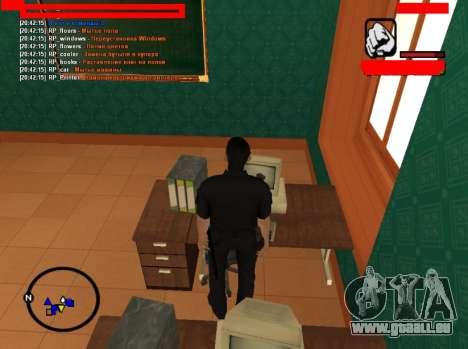 Le jeu de rôle emplois pour GTA San Andreas troisième écran