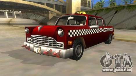 GTA3 Borgnine Cab pour GTA San Andreas vue de droite