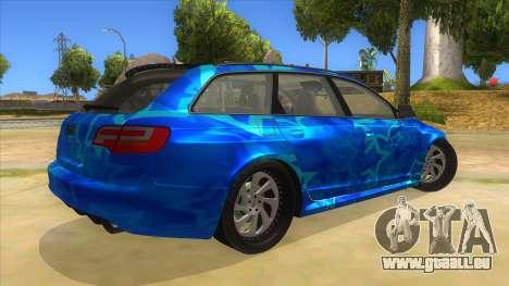 Audi RS6 Blue Star Badgged für GTA San Andreas rechten Ansicht