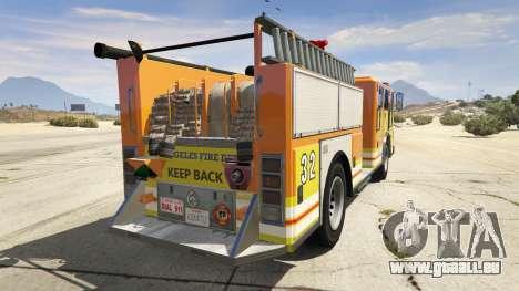GTA 5 Los Angeles Fire Truck hinten links Seitenansicht