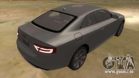Audi S5 Sedan V8 pour GTA San Andreas vue de droite