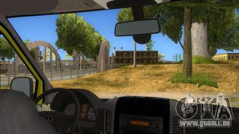 Mercedes-Benz Sprinter INEM Ambulance pour GTA San Andreas vue intérieure