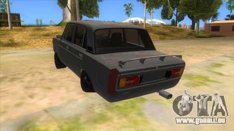 VAZ 2106 Drift Edition für GTA San Andreas zurück linke Ansicht