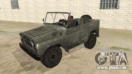 UAZ-469 Old Green Rust für GTA San Andreas