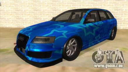 Audi RS6 Blue Star Badgged für GTA San Andreas