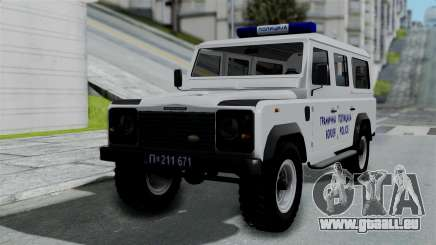 Land Rover Defender Serbian Border Police pour GTA San Andreas