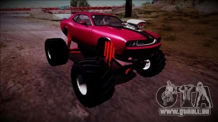 2009 Dodge Challenger SRT8 Monster Truck pour GTA San Andreas