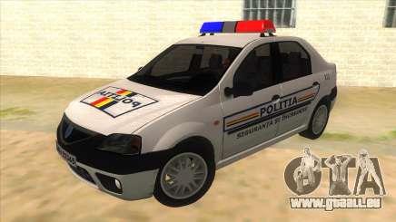 Dacia Logan Romania Police pour GTA San Andreas