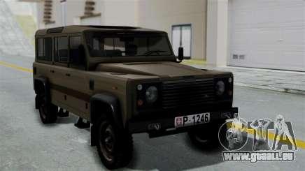 Land Rover Defender Vojno Vozilo pour GTA San Andreas