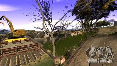 La construction du pont, et la forêt dense pour GTA San Andreas huitième écran