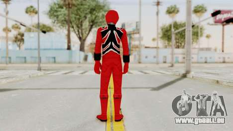Power Rangers Jungle Fury - Red für GTA San Andreas dritten Screenshot