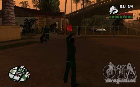 CJ Animation ped pour GTA San Andreas troisième écran
