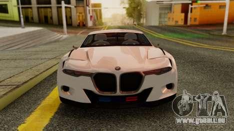 2015 BMW CSL 3.0 Hommage R pour GTA San Andreas sur la vue arrière gauche