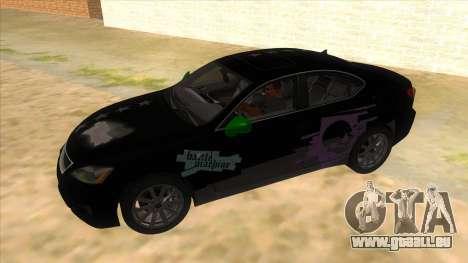 Lexus ISF für GTA San Andreas obere Ansicht