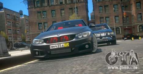 BMW 435i Coupe für GTA 4 linke Ansicht