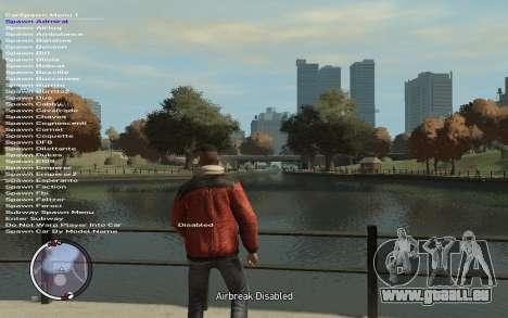 Native Trainer GTA EFLC ENG [STEAM] für GTA 4 weiter Screenshot