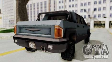 GTA 3 Cartel Cruiser pour GTA San Andreas sur la vue arrière gauche