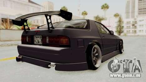 Mazda RX-7 1990 (FC3S) Cordelia Glauca Itasha für GTA San Andreas zurück linke Ansicht