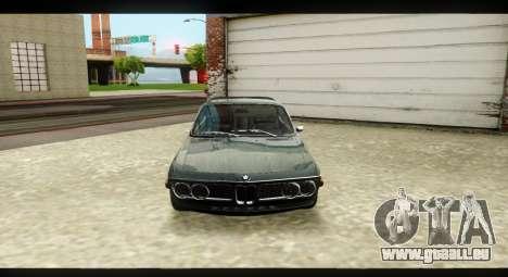 BMW 3.0 CSL pour GTA San Andreas vue intérieure