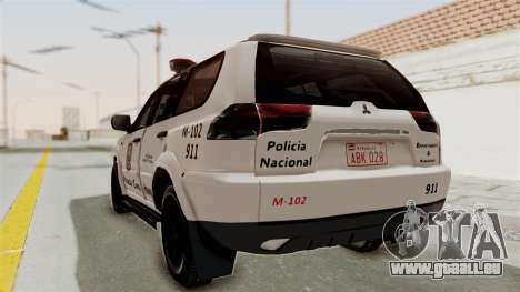 Mitsubishi Pajero Policia Nacional Paraguaya für GTA San Andreas linke Ansicht