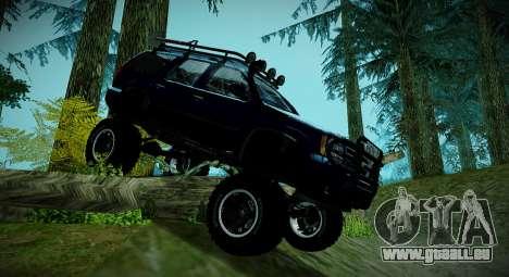 Chevrolet Tahoe LTZ 4x4 pour GTA San Andreas laissé vue