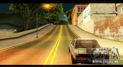BMW 3.0 CSL pour GTA San Andreas sur la vue arrière gauche