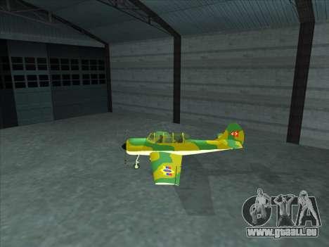 Yak-52 pour GTA San Andreas laissé vue