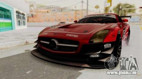 Mercedes-Benz SLS AMG GT3 PJ1 pour GTA San Andreas vue de dessous