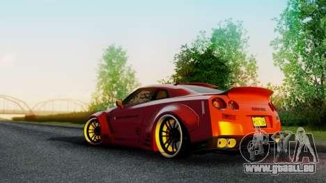 Nissan GTR-R35 Liberty Walk LB performance pour GTA San Andreas laissé vue