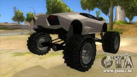 Lamborghini Reventon Monster Truck für GTA San Andreas rechten Ansicht