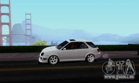 Subaru Impreza WRX STi Wagon Stens pour GTA San Andreas sur la vue arrière gauche