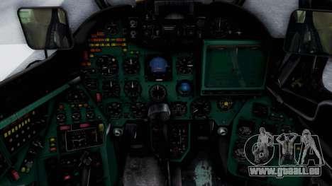 Mi-24V Croatian Air Force H-035 für GTA San Andreas Rückansicht