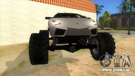 Lamborghini Reventon Monster Truck für GTA San Andreas Rückansicht