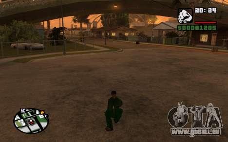 CJ Animation ped pour GTA San Andreas cinquième écran