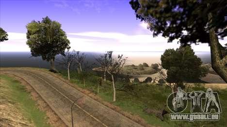 La construction du pont, et la forêt dense pour GTA San Andreas quatrième écran