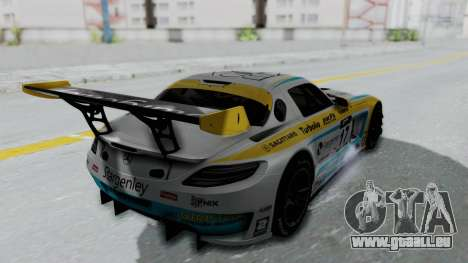 Mercedes-Benz SLS AMG GT3 PJ5 pour GTA San Andreas vue intérieure
