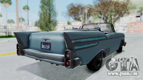 GTA 5 Declasse Tornado No Bobbles and Plaques pour GTA San Andreas sur la vue arrière gauche