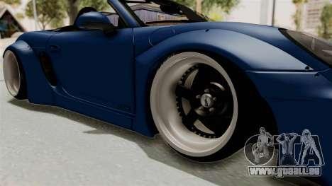 Porsche Boxster Liberty Walk für GTA San Andreas Rückansicht