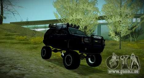 Chevrolet Tahoe LTZ 4x4 pour GTA San Andreas vue de droite