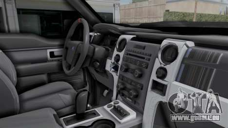 Ford F-150 Raptor 2015 für GTA San Andreas Innenansicht