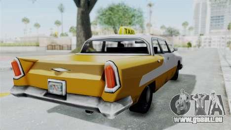 GTA VC Oceanic Taxi pour GTA San Andreas sur la vue arrière gauche